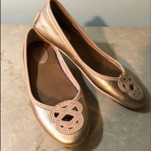 FSperry Rose Pink Leather Ballet Flats 7M